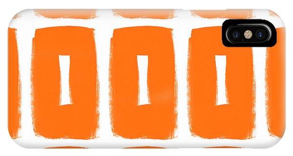 Simple iPhone Case - Orange Boxes- Art By Linda Woods by Linda Woods