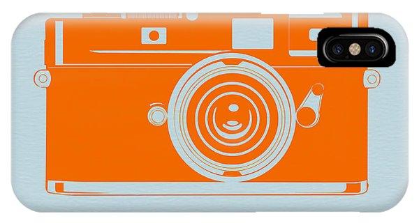 Cameras iPhone Case - Orange Camera by Naxart Studio