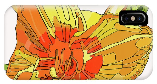 Orange Canna Lily IPhone Case