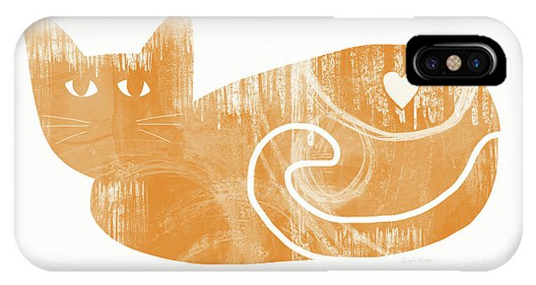Tabby iPhone Case - Orange Cat- Art By Linda Woods by Linda Woods
