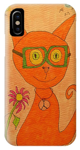 Orange Cat With Glasses IPhone Case