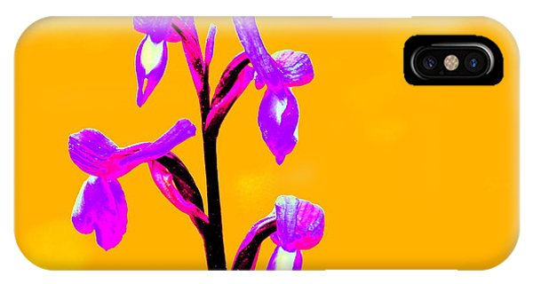 Orange Champagne Orchid IPhone Case