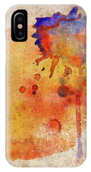Orange Color Splash IPhone Case