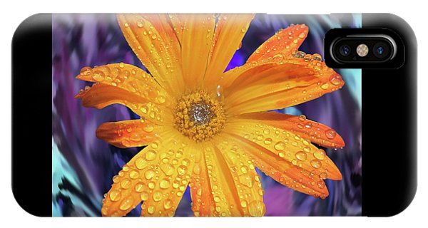 Orange Daisy Swirl IPhone Case