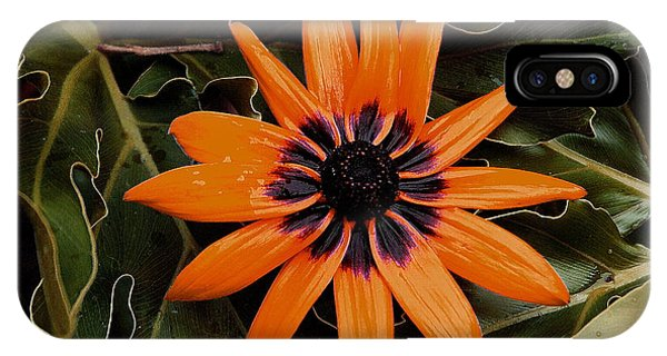 Orange Demeanor  Abstract Phone Case by Debbie May