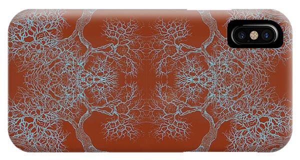 Orange Desire Tree 8 Hybrid 1 IPhone Case