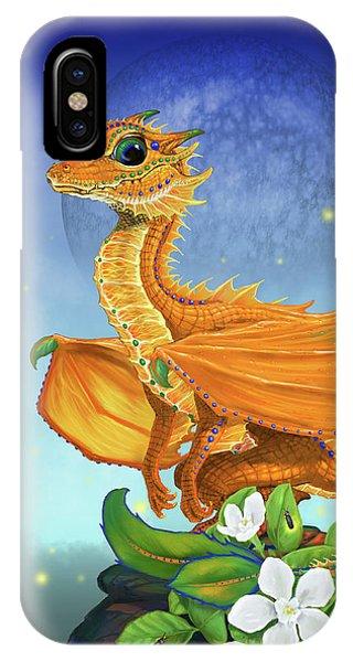 Orange Dragon IPhone Case
