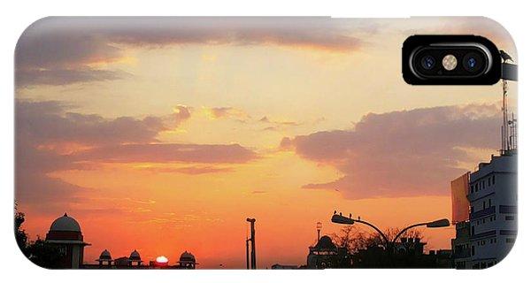 Orange Evening Sky IPhone Case