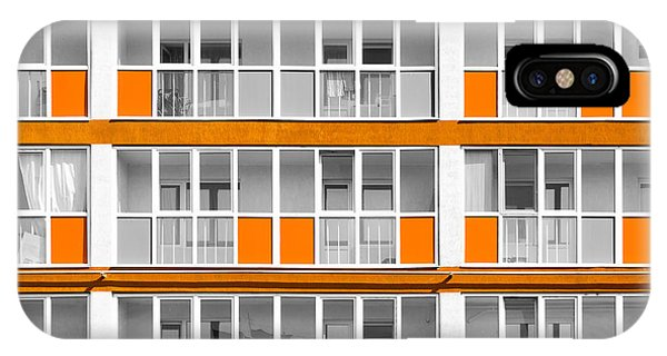 Orange Exterior Decoration Details Of Modern Flats IPhone Case