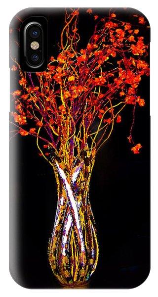 Orange Flowers In Vase IPhone Case