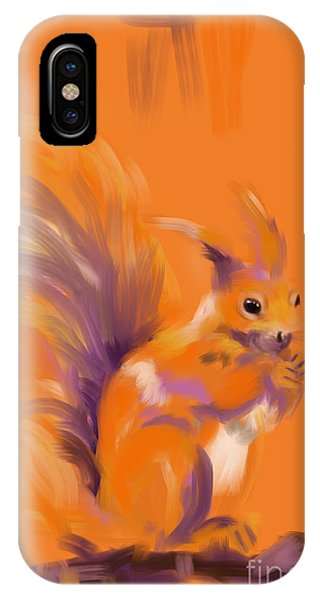 Orange Forest Squirrel IPhone Case