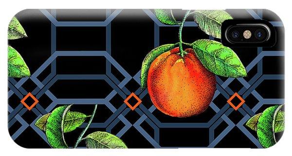 Repeat iPhone Case - Orange Geometric by Andrew Watson