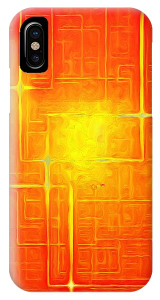 Orange Geometry - Da IPhone Case