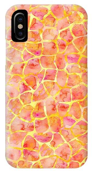 Orange Giraffe Print IPhone Case