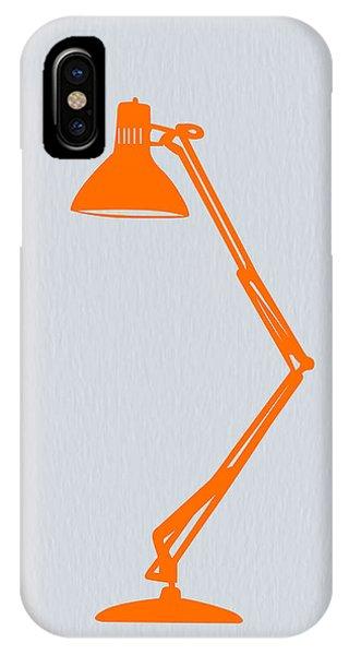 Table iPhone Case - Orange Lamp by Naxart Studio