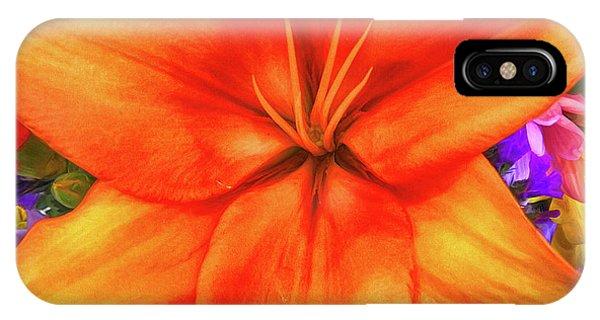 Lillie iPhone Case - Orange Lilly Art by Deborah Benoit