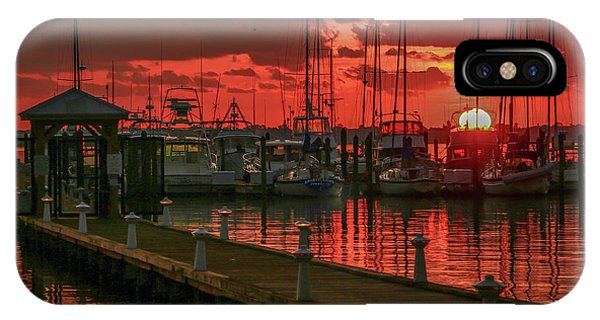 Orange Marina Sunrise IPhone Case