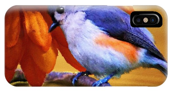Titmouse iPhone Case - Orange Medley by Jai Johnson