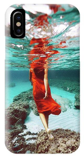 Orange Mermaid IPhone Case