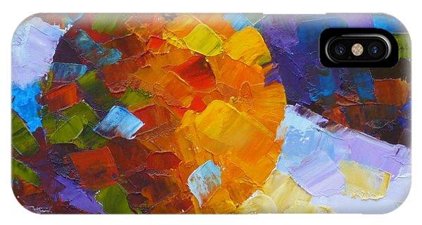 Orange Mosaic #3 IPhone Case