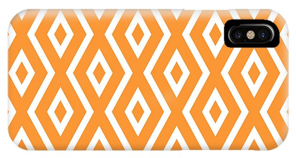 Illusion iPhone Case - Peach Pattern by Christina Rollo