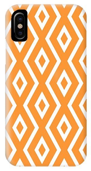 Pattern iPhone Case - Orange Pattern by Christina Rollo