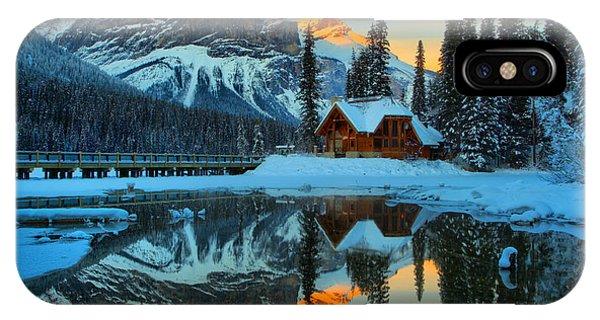 Rocky Mountain Np iPhone Case - Orange Peaks Over Cilantro by Adam Jewell