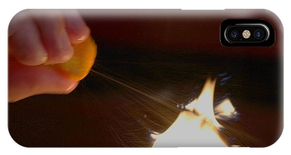 Orange Peel Flame Thrower. IPhone Case
