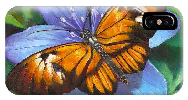 Orange Piano Key Butterfly IPhone Case