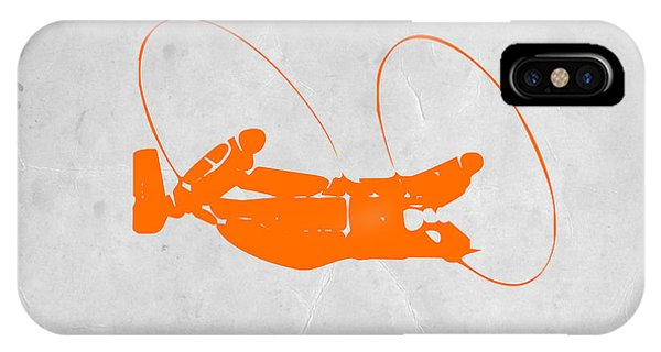 Helicopter iPhone X Case - Orange Plane by Naxart Studio