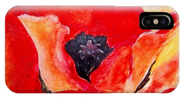 Orange Poppy IPhone Case