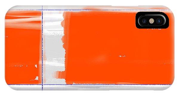 Form iPhone Case - Orange Rectangle by Naxart Studio