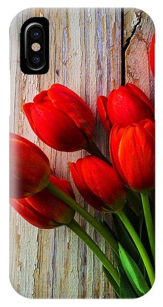 Orange Red Tulips IPhone Case