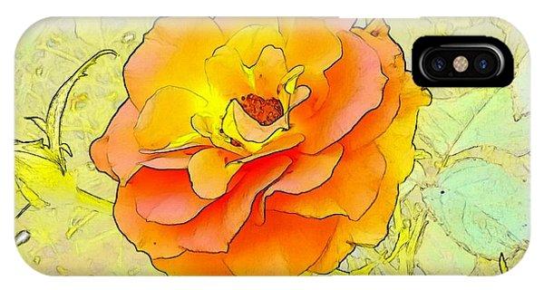 iPhone Case - Orange Rose by Kumiko Izumi