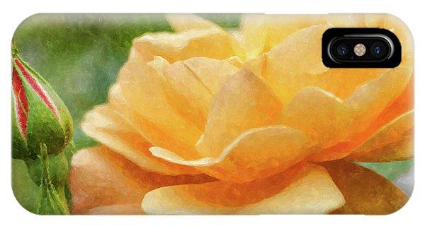 Simple iPhone Case - Orange Rose Painterly by Jennifer White