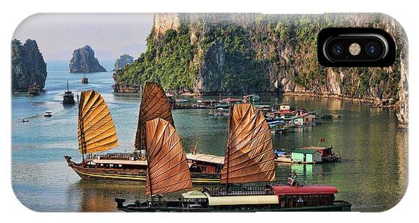 Orange Sails Asian Cruise Vietnam  IPhone Case