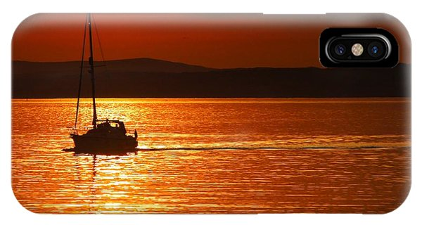 Orange Silhouette Phone Case by Nik Watt