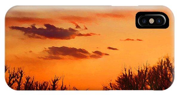Orange Sky At Night IPhone Case