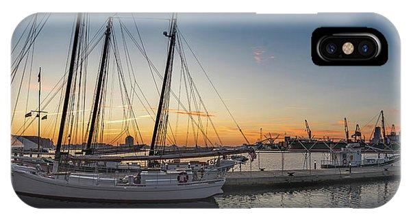 Skipjack iPhone Case - Orange Sunrise by Jim Archer