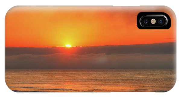 Orange Sunrise On Long Beach Island IPhone Case
