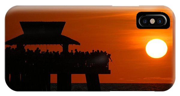 Orange Sunset In Naples IPhone Case
