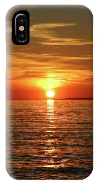 Orange Sunset Lake Superior IPhone Case