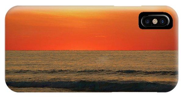 Orange Sunset On The Jersey Shore IPhone Case