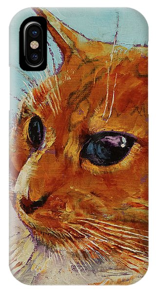 Orange Tabby Cat IPhone Case