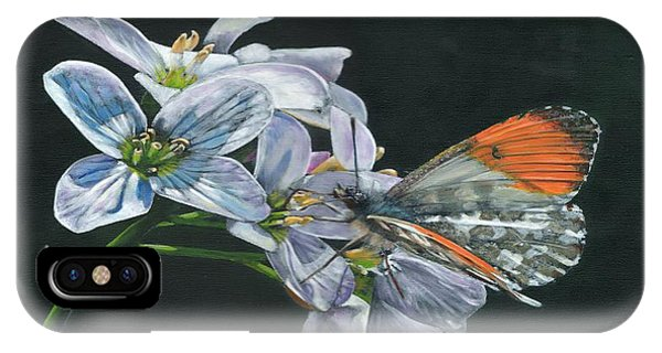 IPhone Case featuring the painting Orange Tip  by John Neeve