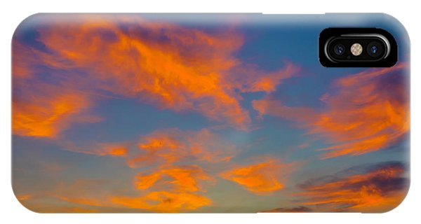 Sun Set iPhone Case - Orange Twllight Clouds by Garry Gay