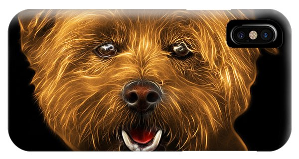 IPhone Case featuring the mixed media Orange West Highland Terrier Mix - 8674 - Bb by James Ahn