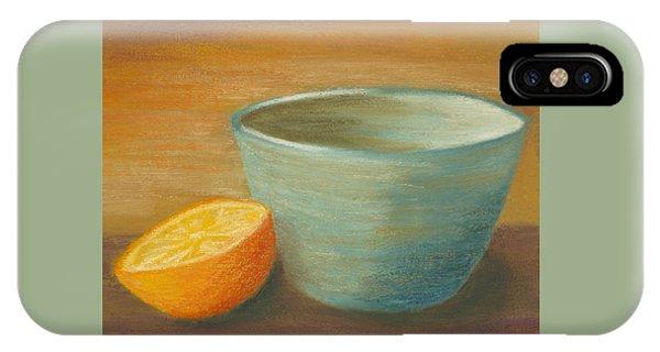 Orange With Blue Ramekin IPhone Case