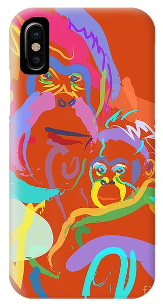 Orangutan Mom And Baby IPhone Case