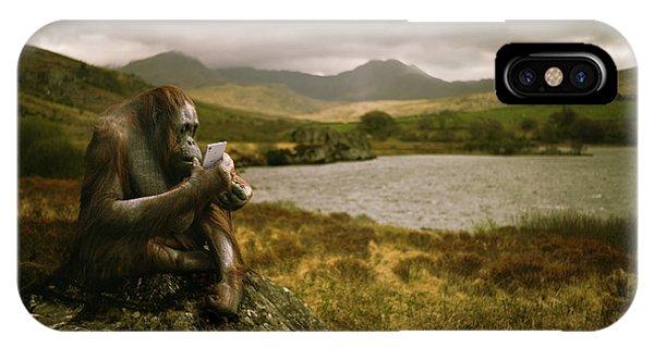 Orangutan With Smart Phone IPhone Case